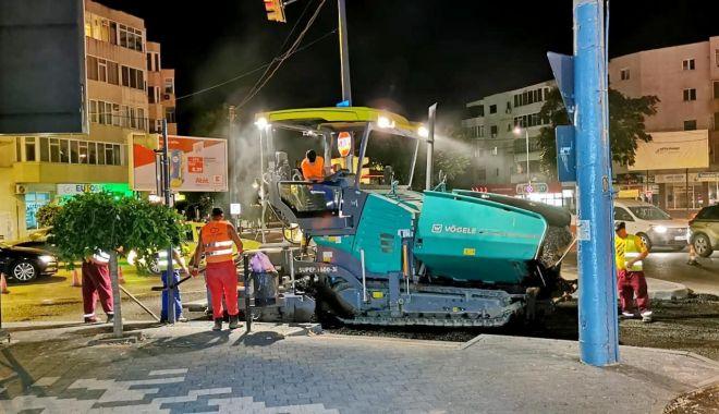 Foto: Administrația locală asfaltează bulevardul Tomis