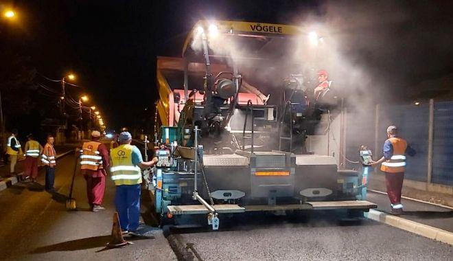 Foto: RESTRICȚII DE TRAFIC, în cartierul Palazu Mare. Se asfaltează