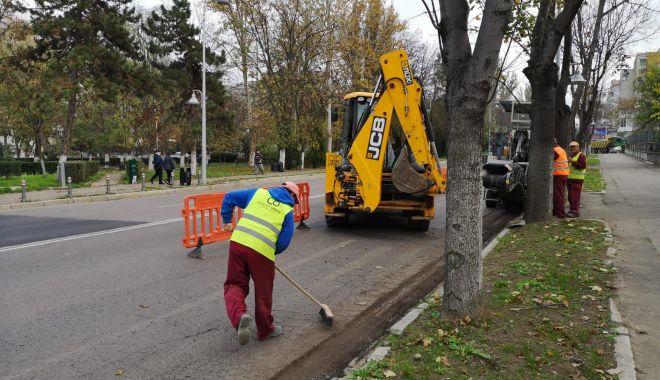 Foto: Lucrări de reabilitare, nu parcați pe bulevardul Tomis!