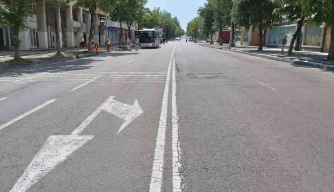 Foto: Atenție, constănțeni! Asfaltări, pe bulevardul Tomis