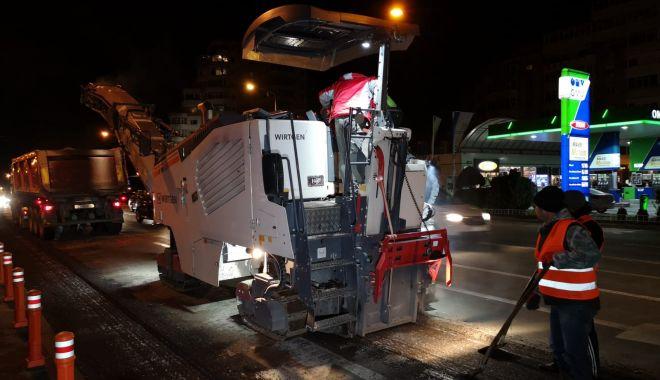 Foto: Atenție șoferi! Administrația începe asfaltarea pe bulevardul Tomis