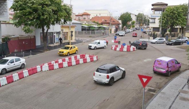 Foto: Atenție, șoferi! Trafic restricționat total pe un tronson al străzii I.G. Duca din Constanța