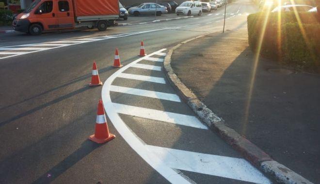 Atenţie, şoferi! A fost mutată o trecere de pietoni de pe strada Nicolae Iorga din Constanţa
