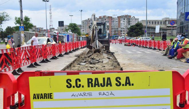 Foto: Atenţie, constănţeni! Trafic restricţionat din cauza unor avarii la reţeaua de apă
