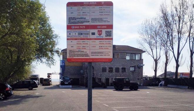 Foto: Atenţie unde parcaţi în Mamaia şi Constanţa!  Nu mai sunt taxatori, trebuie să plătiţi cu sms