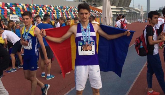 Foto: Atletul Marian Petre,  dublu medaliat  la Campionatul Balcanic