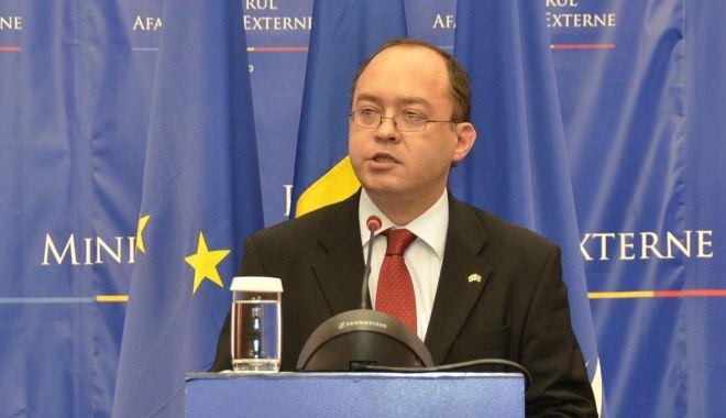 Foto: Bogdan Aurescu - la reuniunea miniștrilor de Externe din statele membre NATO