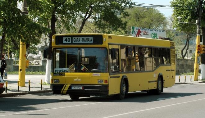 Foto: RATC. Intră pe traseu liniile estivale 40 Mamaia şi 100 Mamaia. Două autobuze vor merge până la 12 noaptea