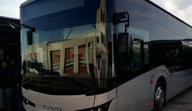 Foto: Au venit noile autobuze!  Flota Isuzu, pe străzile Constanţei