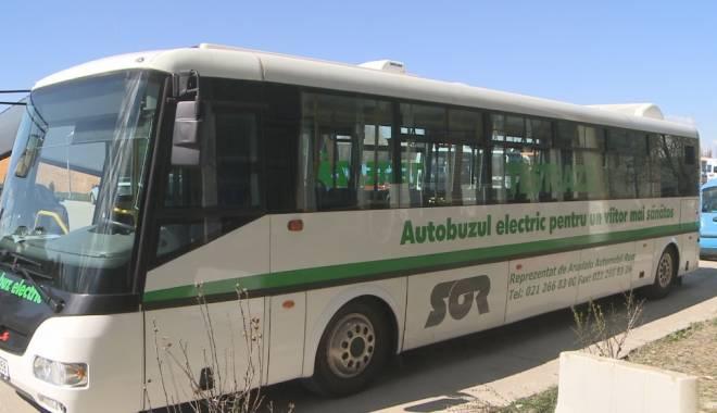 Foto: RATC. Un autobuz electric va fi introdus pe mai multe linii