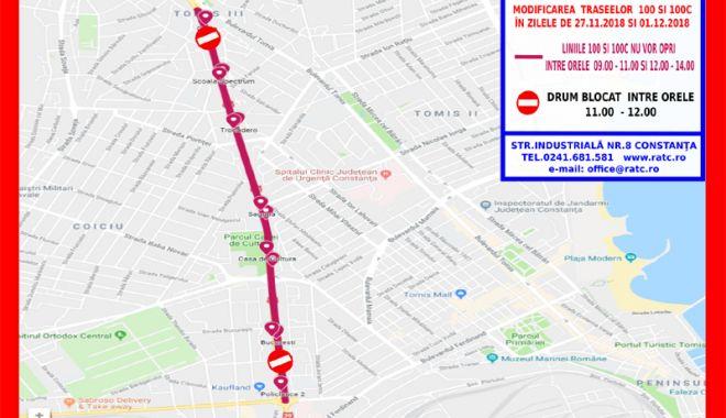 Foto: Atenție, călători! Autobuzele de pe liniile 100 şi 100C circulă deviat
