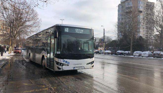 Foto: Noile autobuze ale Constanţei, în trafic, de azi