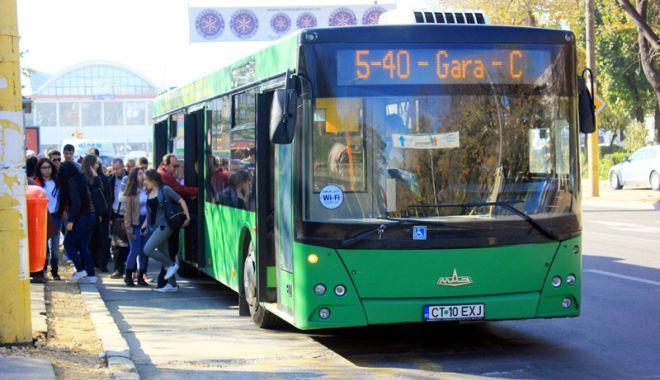 Foto: Atenţie, constănţeni! Autobuzele 5-40 circulă deviat