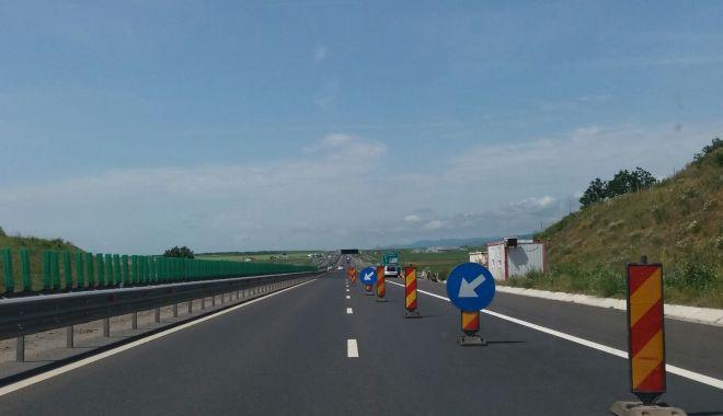 Foto: Şoferi, atenţie! Se lucrează pe Autostrada Soarelui!