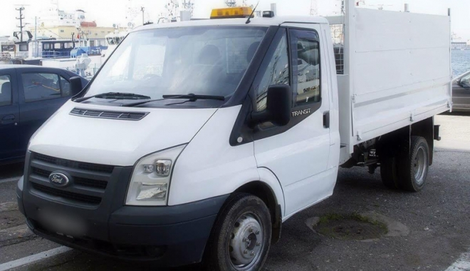 Foto: Autovehicul căutat în Anglia, descoperit în Constanţa,  cu numere false