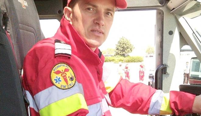 Foto: Moment de reculegere în memoria pompierului-erou slt. Marius Daniel Fripis