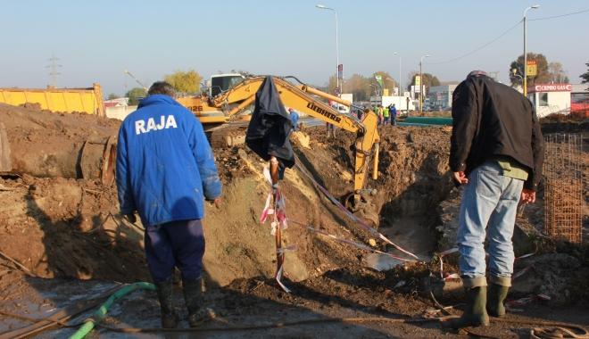 Foto: Avarie RAJA. Oraşul Năvodari a rămas fără apă potabilă