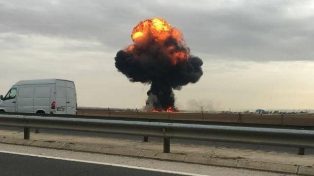 Foto: Tragedie aviatică. Un F-18 s-a prăbuşit! Pilotul şi-a pierdut viaţa