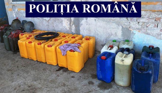 Foto: OPT BĂRBAȚI, REȚINUȚI PENTRU FURT DE COMBUSTIBIL