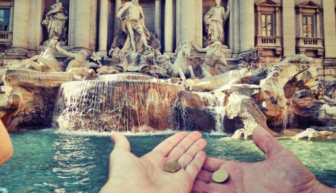 Foto: Scandal între primăria Romei şi Biserica Catolică: Cum vor fi administraţi banii din Fontana di Trevi