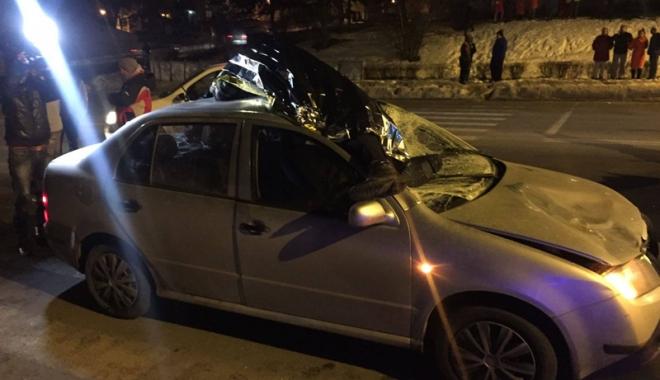 Foto: Bărbat accidentat  mortal la Medgidia. Alţi pietoni au fost răniţi pe