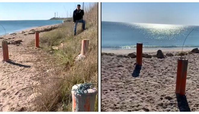 Betoane pe nisip, la Tuzla.
