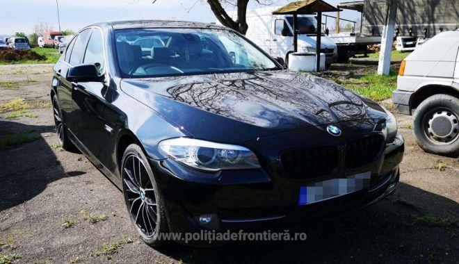 Foto: BMW căutat de autoritățile din Marea Britanie, descoperit în România