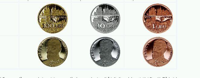 Foto: BNR a lansat câteva monede dedicate regelui Carol I