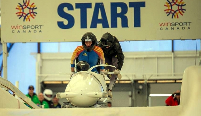 """Foto: Bobul românesc, pe pârtia de la Whistler. """"Record la start, record de viteză!"""""""