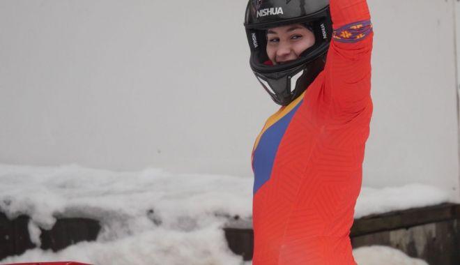 Foto: Teodora Vlad, pe locul 3 la concursul de monobob din Franţa