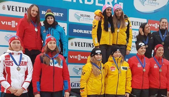Foto: Reginele Europei! Andreea Grecu şi Teodora Vlad, pe podium la Winterberg