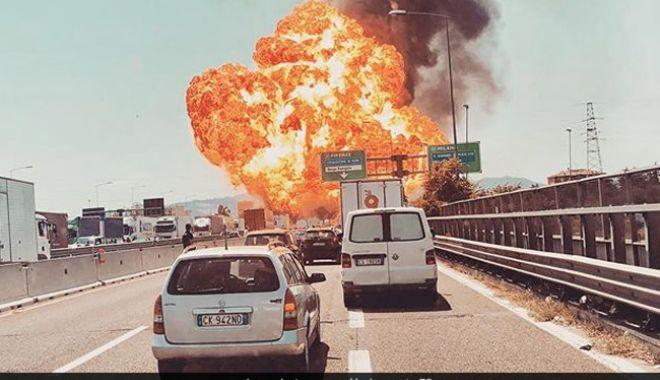Foto: Alți doi români răniți în explozia din apropierea aeroportului din Bologna