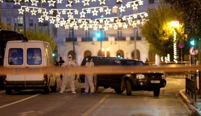 Foto: Bombă detonată chiar în faţa Ministrului Muncii din Grecia