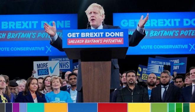 Foto: Boris Johnson afirmă că lupta electorală nu ar putea fi mai strânsă