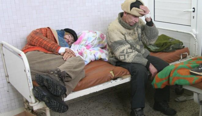 Foto: Urgenţa - adăpost pentru cerşetori