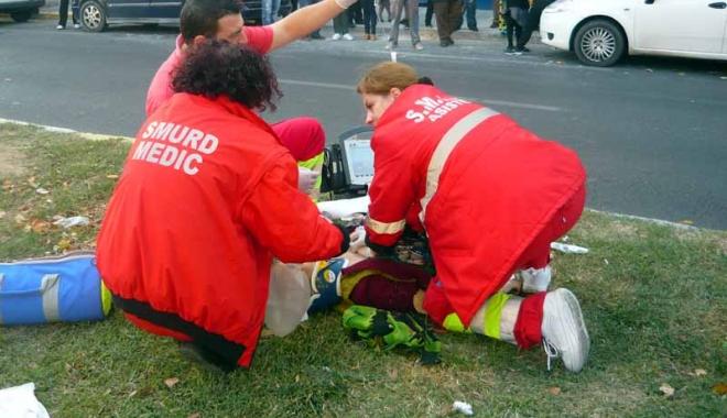 Foto: GRAV ACCIDENT RUTIER LA CONSTAN�A. PIETON SPULBERAT DE UN CAMION