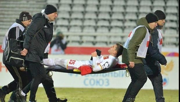 Foto: Bourceanu, accidentare teribilă în Rusia. A fost transportat de urgenţă cu avionul la Moscova