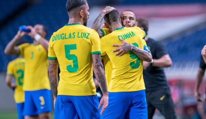 Echipa naţională de fotbal a Braziliei este în finala Jocurilor Olimpice după ce a trecut de Mexic la loviturile de departajare - braziliaolimpiada-1627988728.jpg