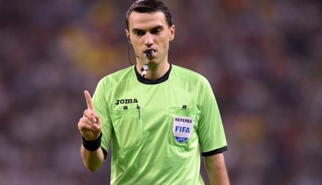 Foto: Brigadă de arbitri români, la un super-meci de Liga Campionilor