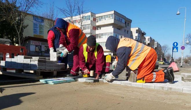 Foto: Lucrări edilitare pe bulevardul Tomis. Ce tronson este vizat