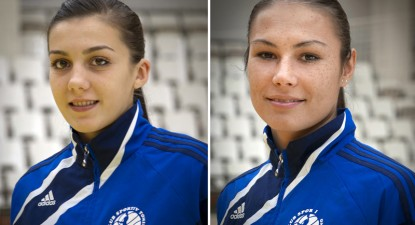 Foto: Gest incalificabil al jucătoarelor Cristina Zamfir şi Mihaela Pătuleanu