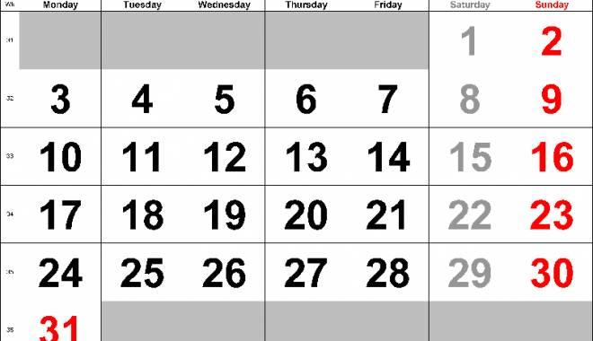 Foto: Calendarul fiscal al lunii august