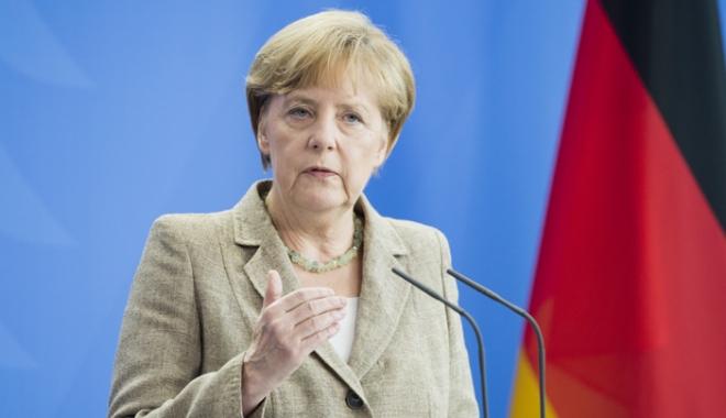 Foto: Cancelarul Merkel promite  să lupte împotriva terorismului alături de Marea Britanie