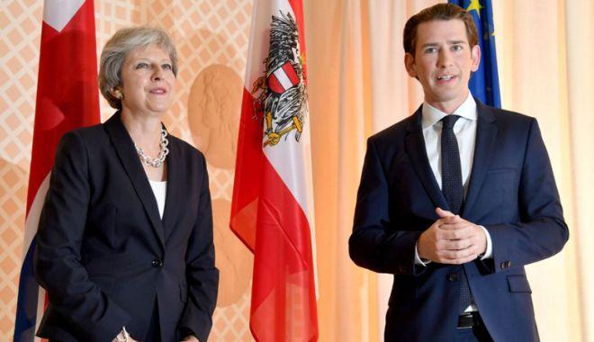 Foto: Cancelarul Austriei salută victoria premierului britanic în urma votului de neîncredere