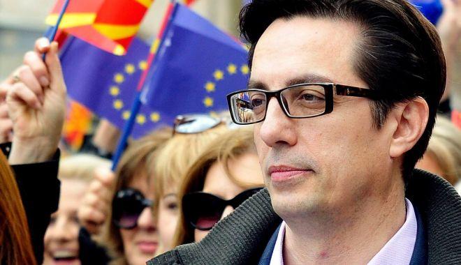 Foto: Candidatul social-democrat Stevo Pendarovski, câştigător în primul tur