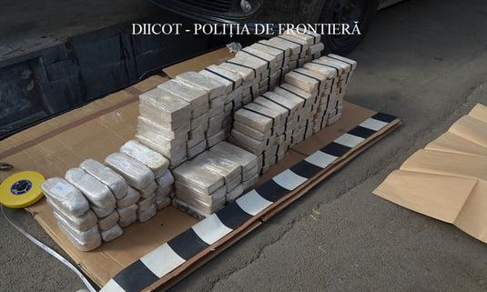 Foto: Captură RECORD a DIICOT - Peste 84 de kilograme de heroina au fost introduse în România