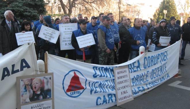 Foto: Grevă la Constanţa. Cartel Alfa Constanţa se solidarizează cu protestul sindicatelor din administraţia locală