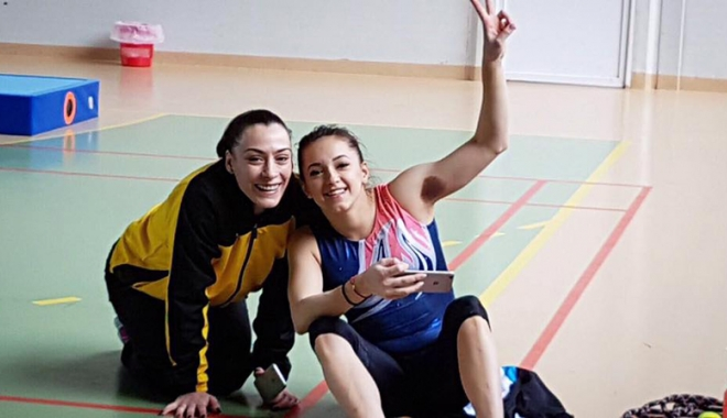 Foto: Cătălina Ponor,  la startul Campionatelor Europene  de gimnastică