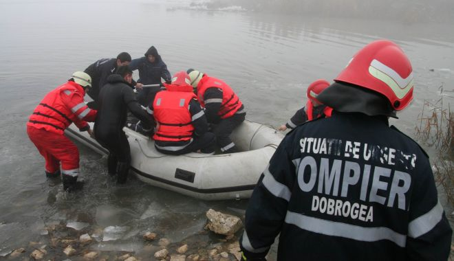 Foto: Bărbat mort după ce a căzut în lacul Siutghiol