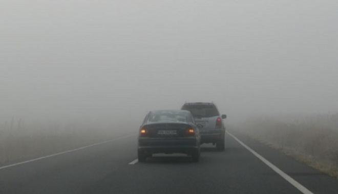 Foto: Atenţie, a fost prelungit codul galben de ceaţă densă, la Constanţa!